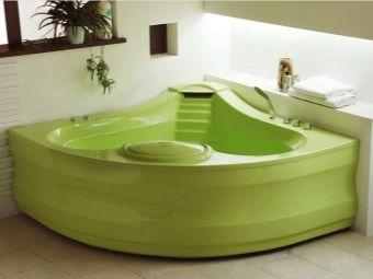 Ванна зеленого кольору