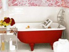 Червоний колір для ванни