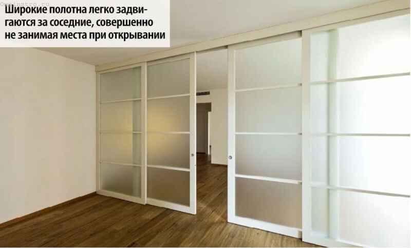Розсувні двері з широкими полотнами