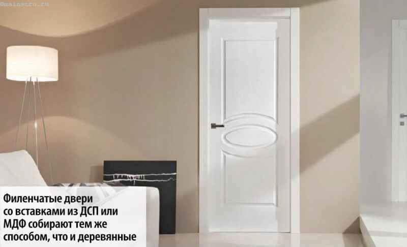 Фільончасті двері зі вставками з ДСП або МДФ