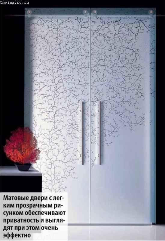 Матові двері з прозорим малюнком