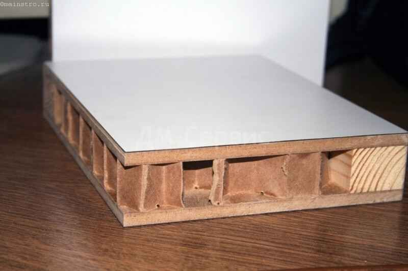 Заповнення щитових дверей з пористого картону