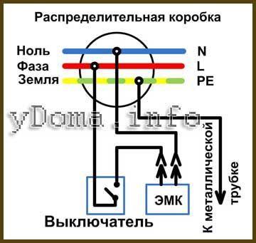 Електрична схема управління біде унітазу вимикачем