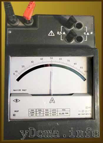 Вимірювання сили споживаного струму електроприладу
