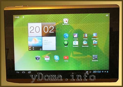 Фотографія планшета Acer A500