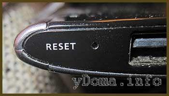 Фотографія кнопки скидання планшета Acer A500