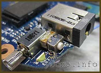 Фото відремонтованої кнопки Power