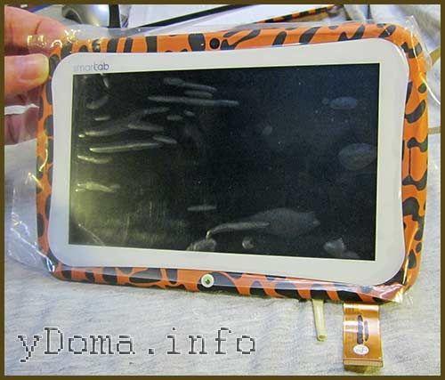 Фото приклеєного сенсорного скла на рамку планшета