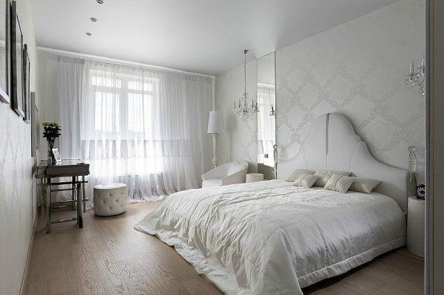 Комбіновані шпалери в спальню 2017: фото і дизайн