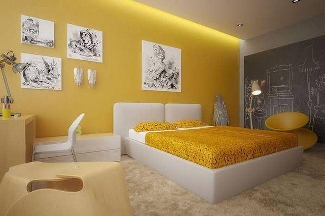 Красиві і неповторні жовті шпалери: інтер`єрні особливості