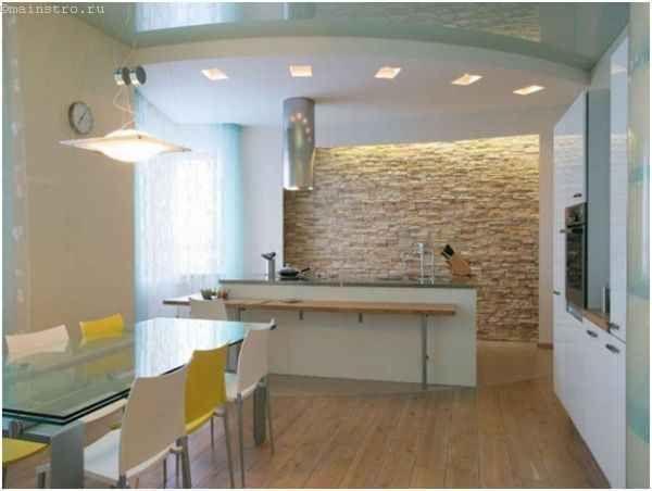 Натяжні стелі для кухні разом з гіпсокартонних