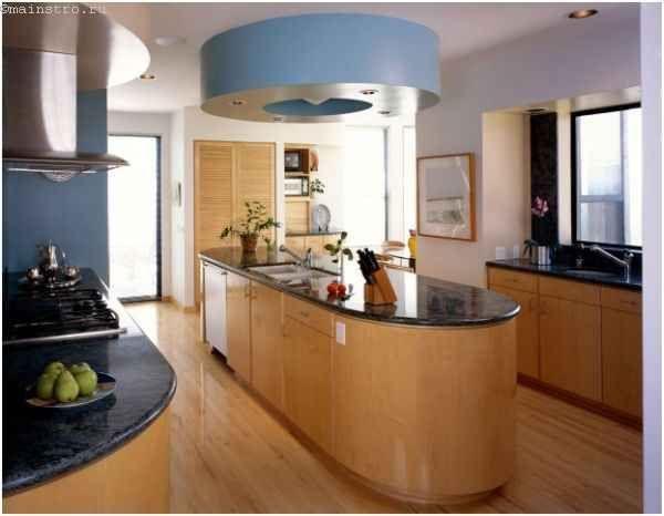 «Острівні» натяжні стелі для кухні