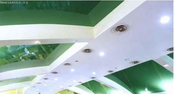 Комбіновані натяжні стелі для кухні