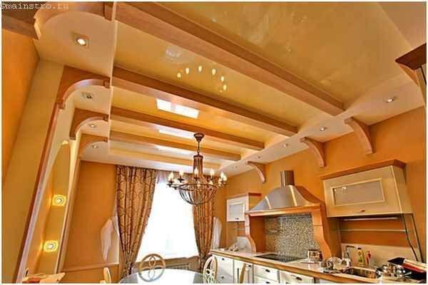 Оригінальні натяжні стелі для кухні