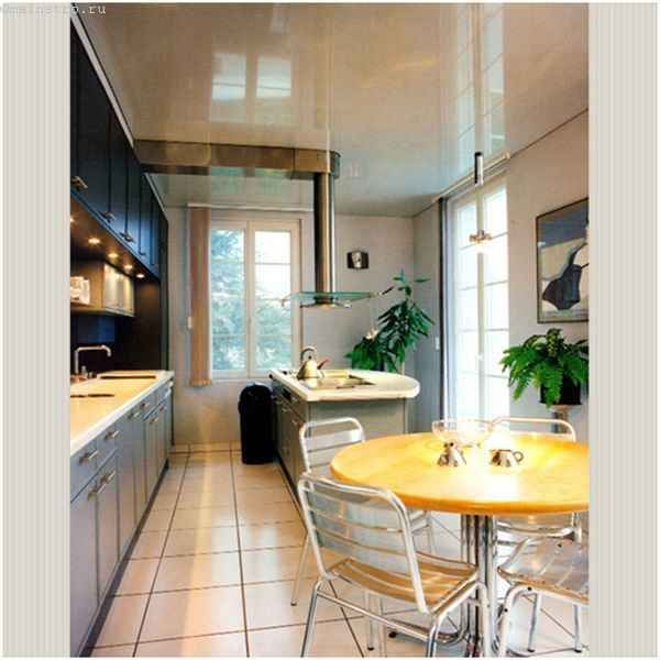 Однорівневі натяжні стелі для кухні