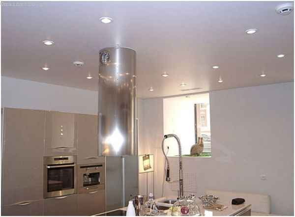 Матові натяжні стелі для кухні