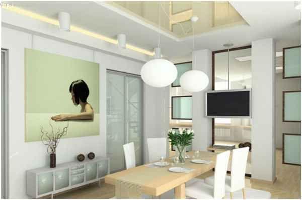 Глянцеві натяжні стелі для кухні