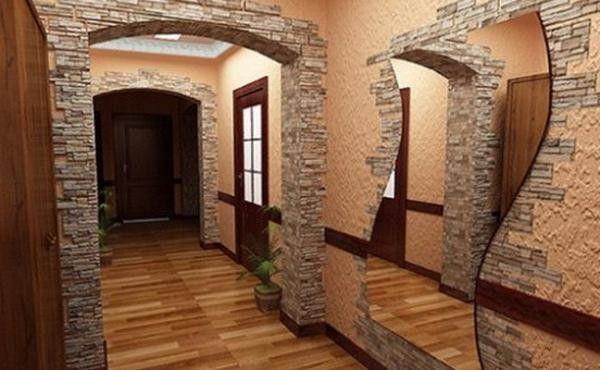 Оздоблення стін декоративним каменем і шпалерами: фото і гідності