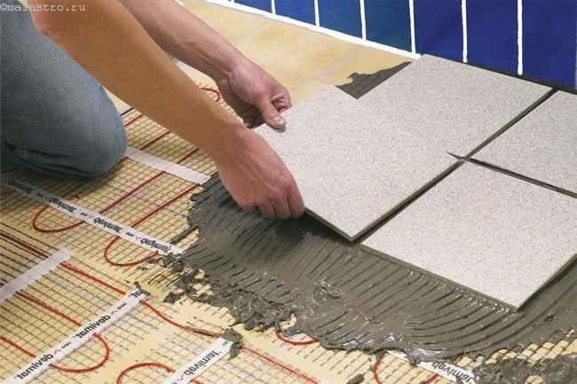 Укладання плитки на електричні теплі підлоги