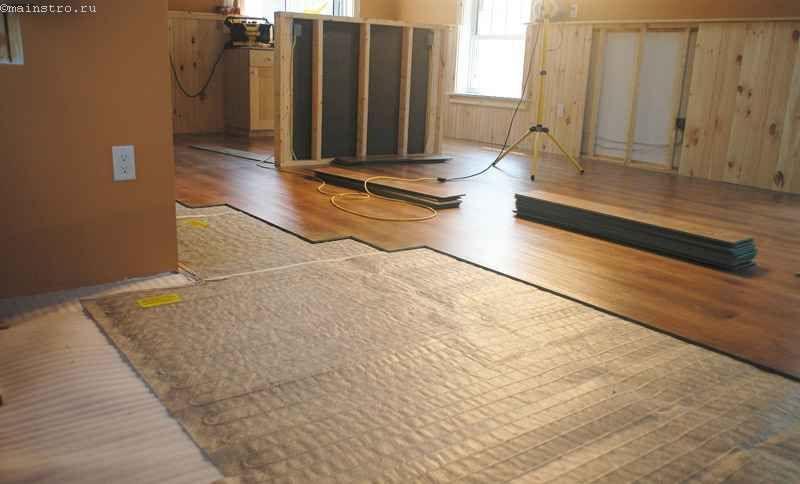 Монтаж плівкового типу електричних підлог