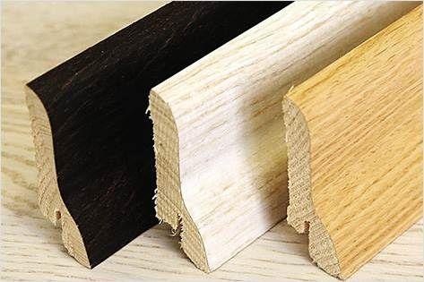 Соснові рейки, покриті шпоном з цінної деревини.