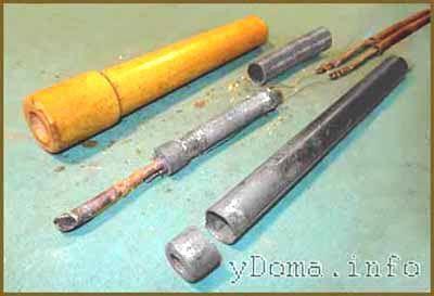 Складові частини електричного паяльника