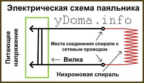 Електрична схема паяльника