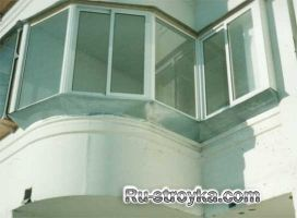 Варіанти скління балконів і лоджій