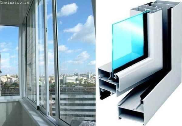 Варіанти недорогого засклення балконів і лоджій