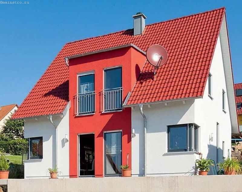 Колір фасаду гармонує з кольором покрівельного покриття