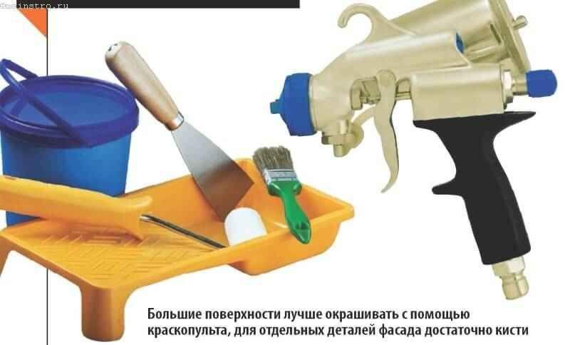Інструмент для фарбування фасаду будинку