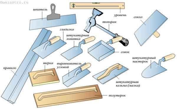 інструменти для роботи з штукатуркою